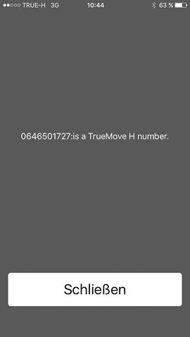 Telefonnummer bei True Move H