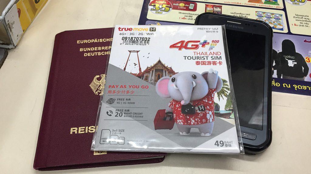 True Move H Tourist SIM-Karte in Thailand