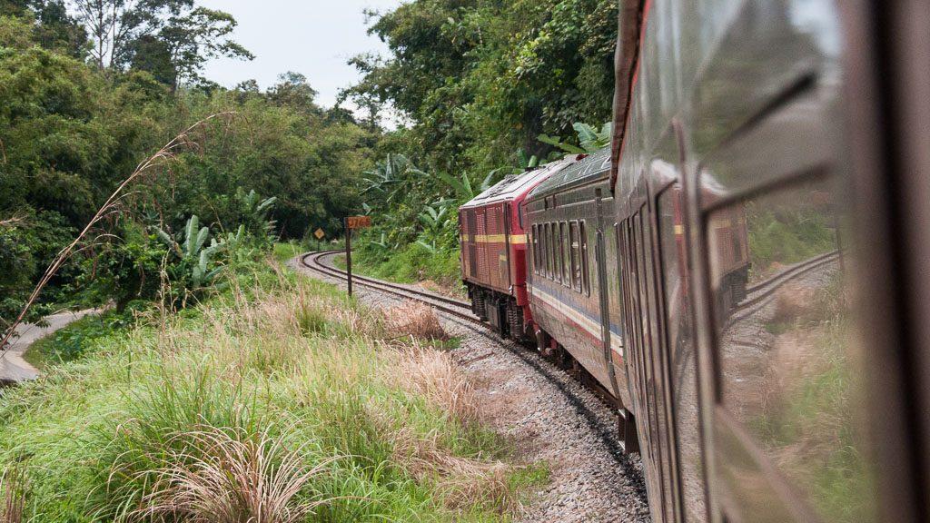 Dschungel Eisenbahn in Malaysia