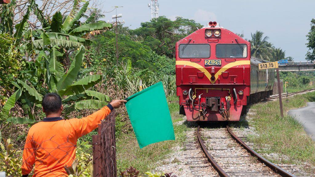 Eisenbahn in Malaysia bei Wakaf Bharu