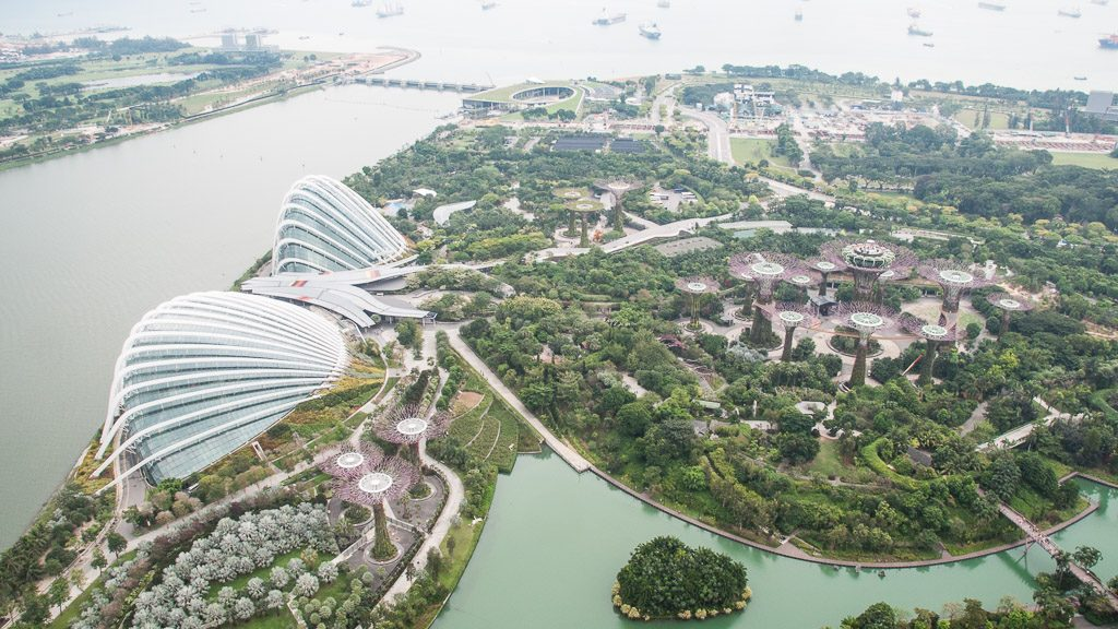 Gardens by the Bay von oben