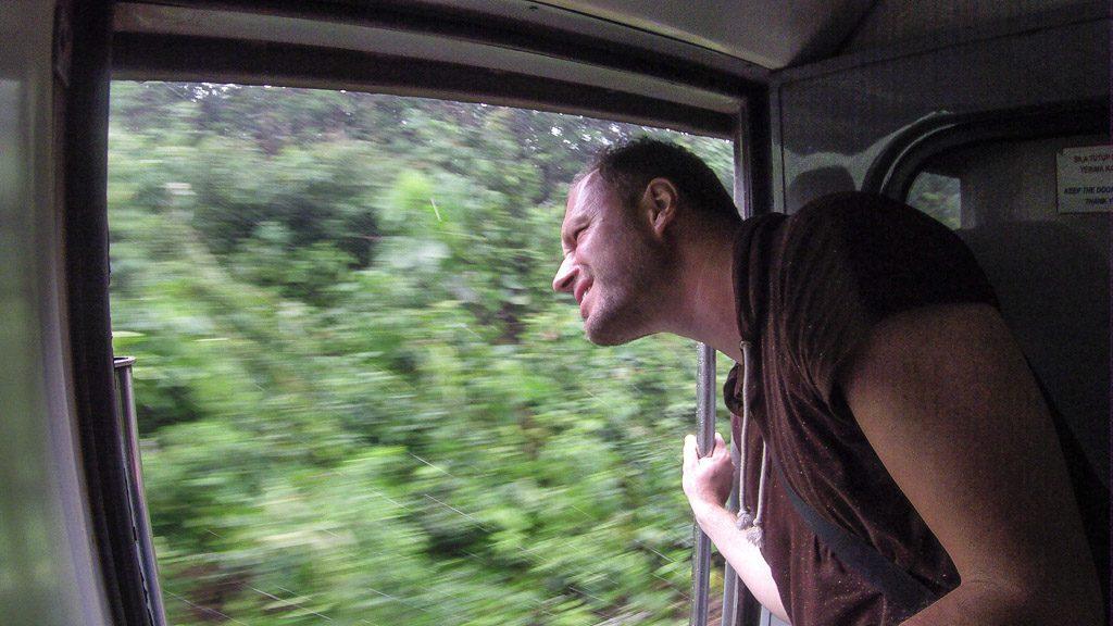 Gerhard Liebenberger in der Jungle Railway Malaysia
