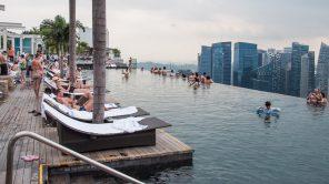 Infinity Pool im Marina Bay Sands Hotel Singapur