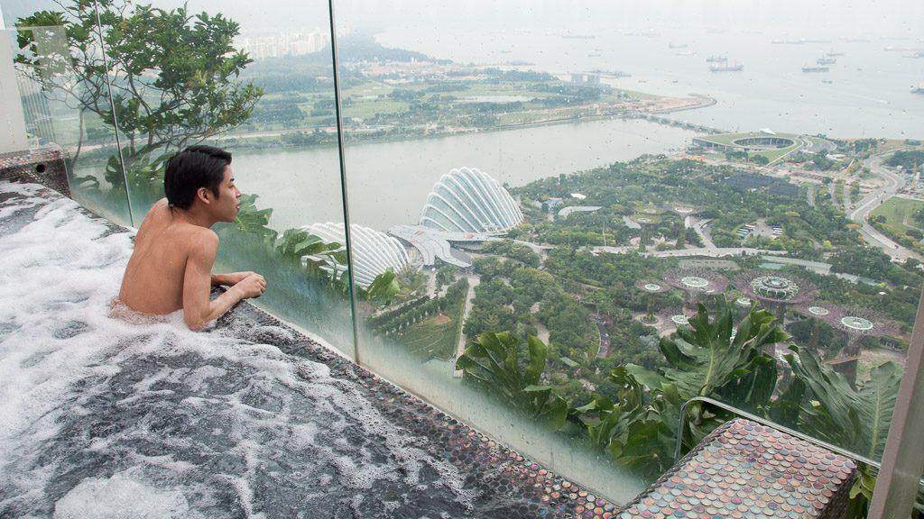 Jacuzzi im Marina Bay Sands Singapur