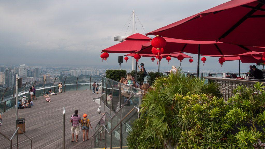 Observation-Deck im Marina Bay Sands Hotel Skypark