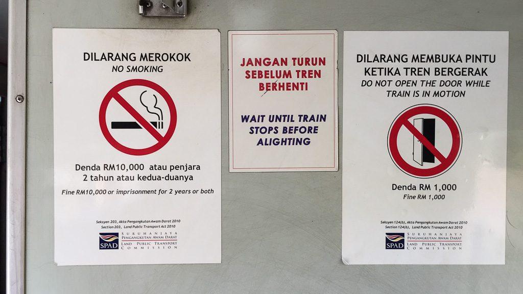 Rauchen verboten, offene Türen verboten