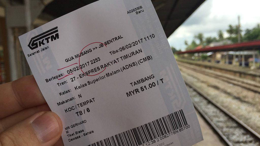 Zugticket Dschungel-Eisenbahn
