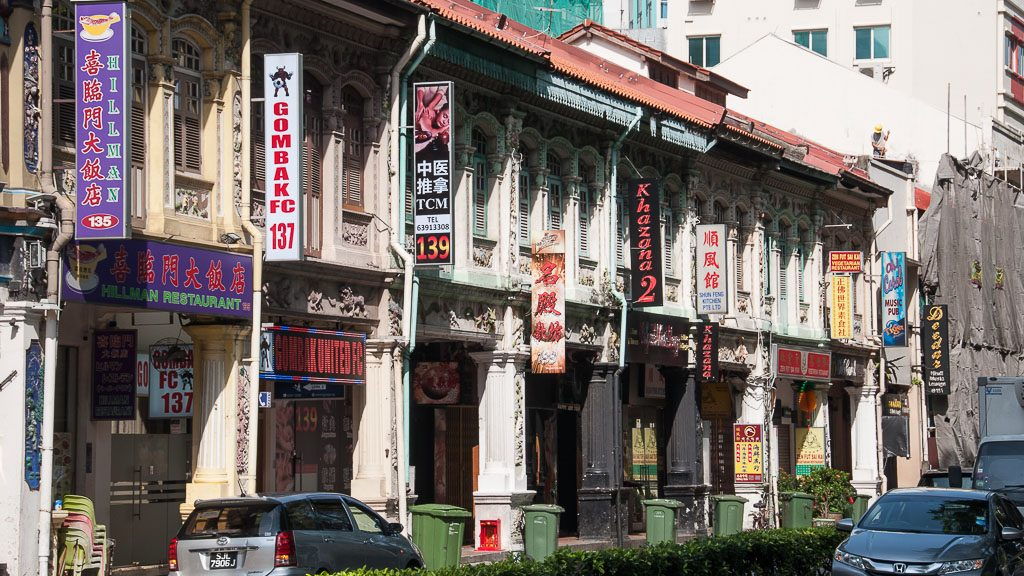 Alte Häuser in Singapur, Nähe Little India
