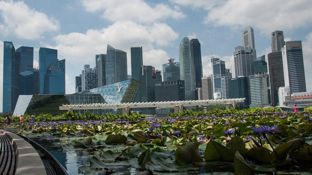 Downtown und Marina Bay in Singapur