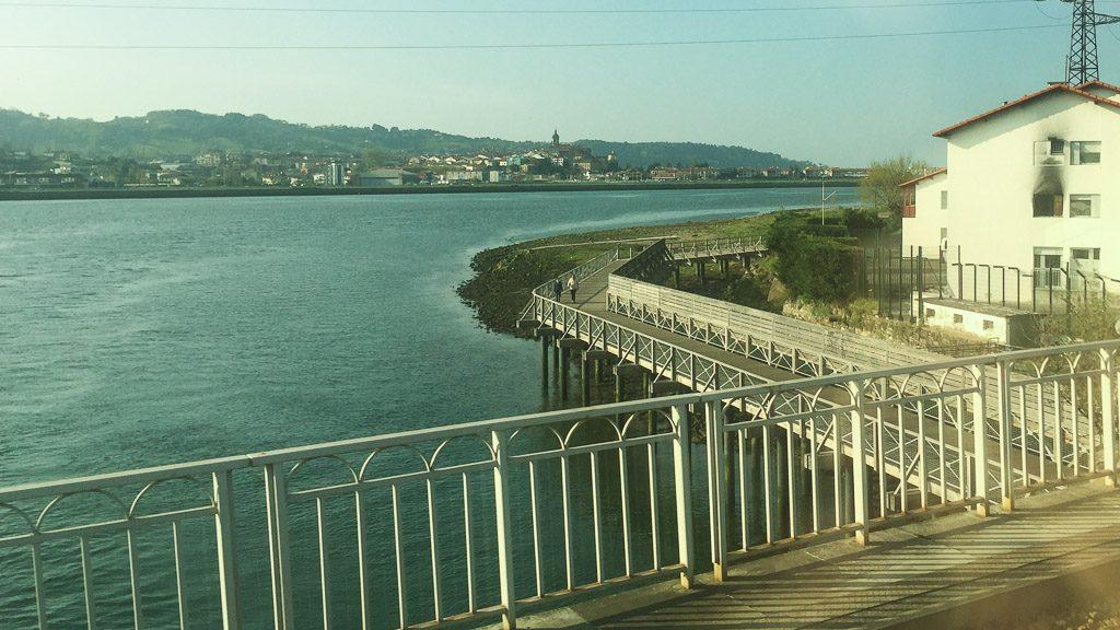 Brücke zwischen Hendaye und Irun