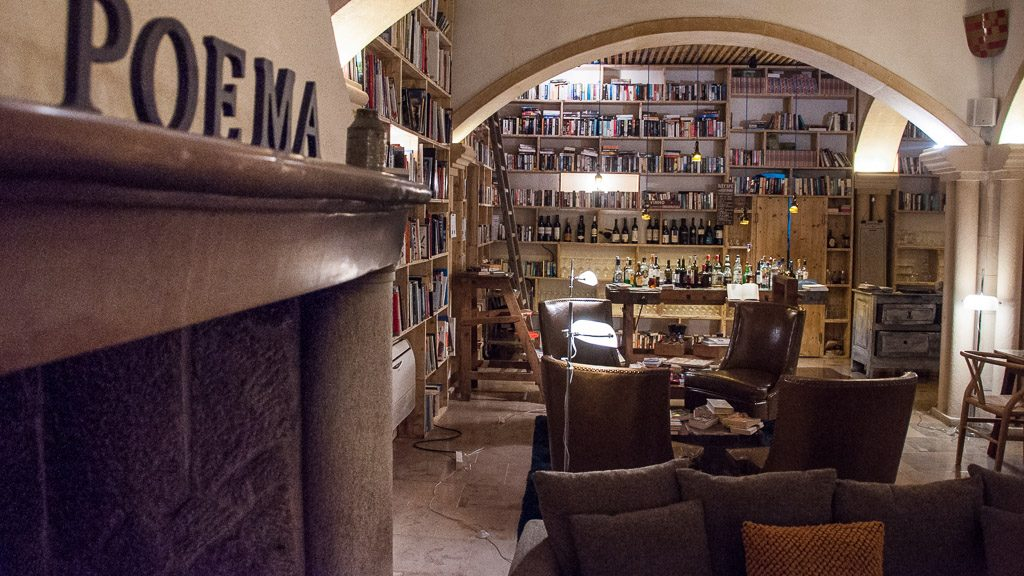 "Bücher im Hotel ""The Literary Man"" in Obidos"