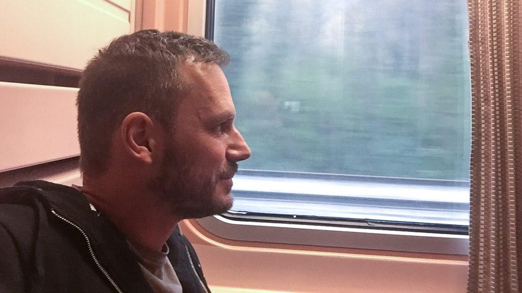 Gerhard Liebenberger im Nachtzug nach Lissabon