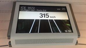 ICE Stuttgart-Paris mit 315 km/h