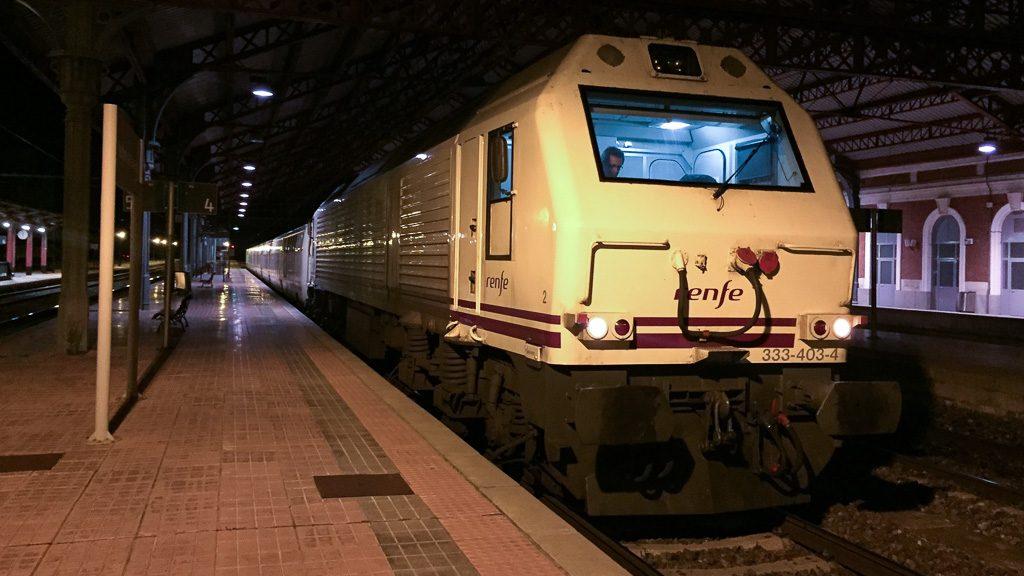 Nachtzug in Medina del Campo