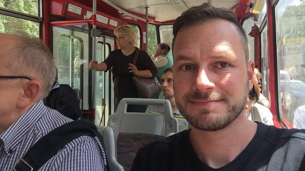 """Gerhard Liebenberger """"Andersreisender"""" in Lviv"""