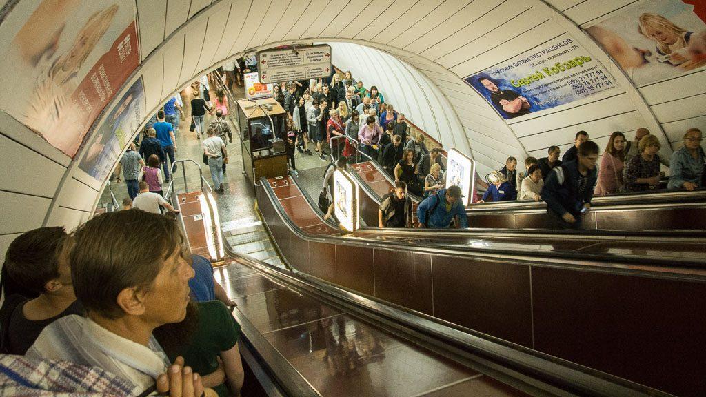 Rolltreppe Metro Kiew