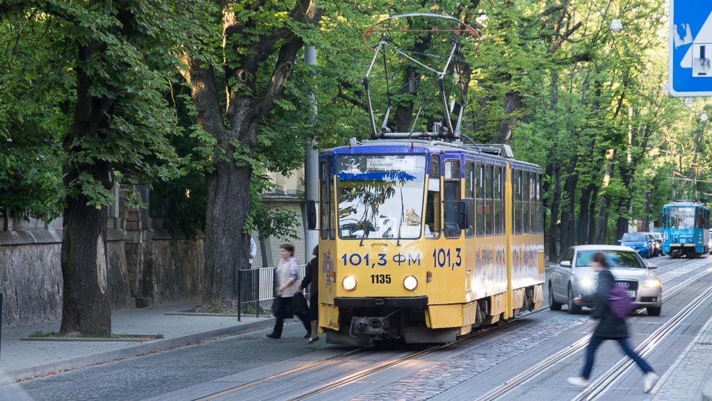 Tatra KT4 Straßenbahn in Lemberg