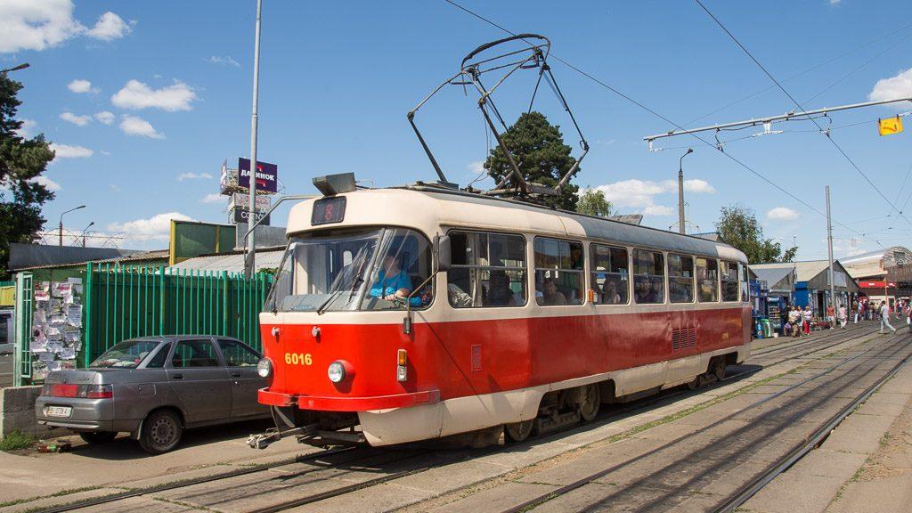 Tatra Straßenbahn in Kiew