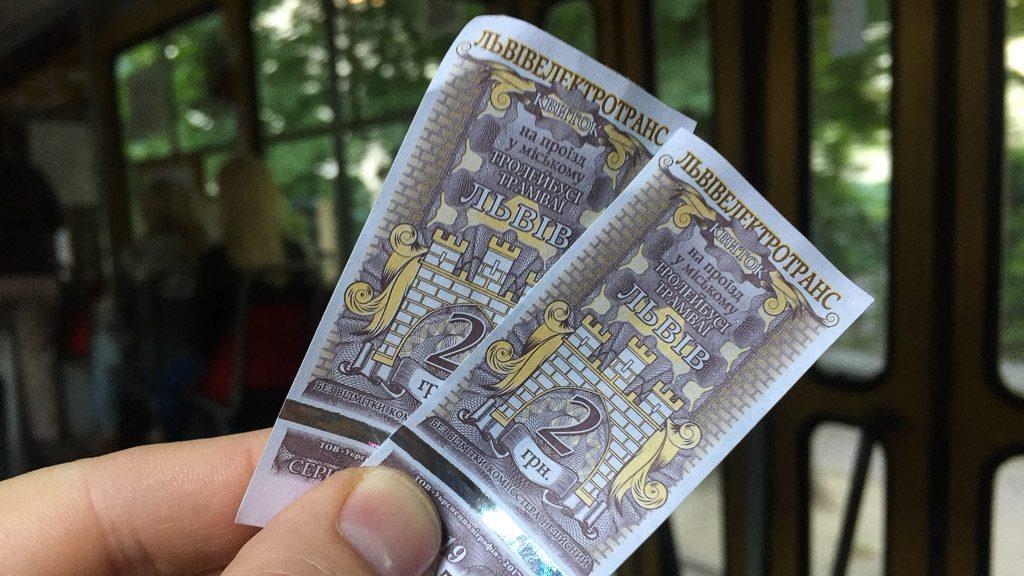 Ticket Straßenbahn Lviv