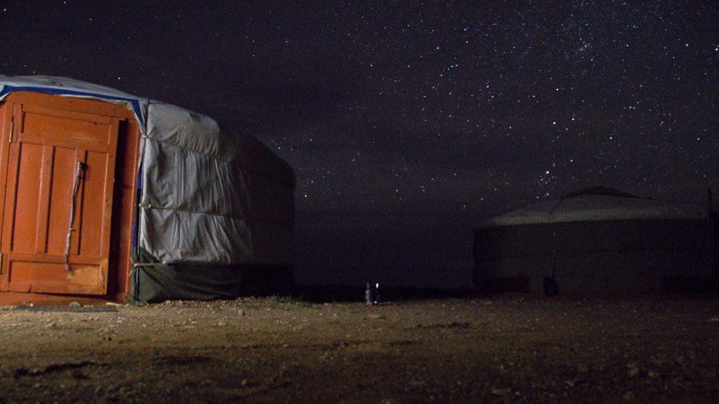 Beeindruckender Sternenhimmel ist bei einer Übernachtung in der Jurte inklusive.