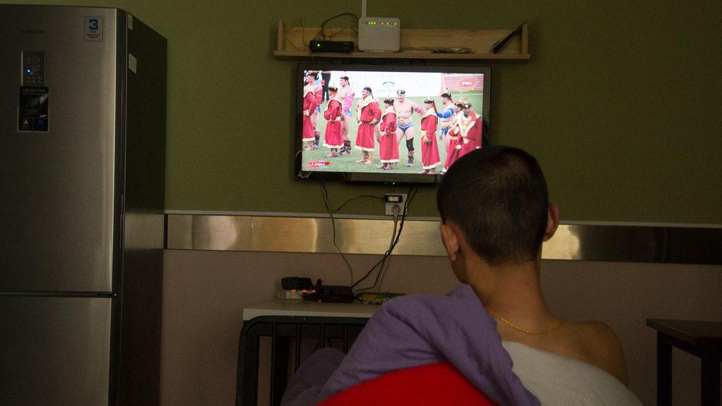 Naadam Fest im Fernsehen
