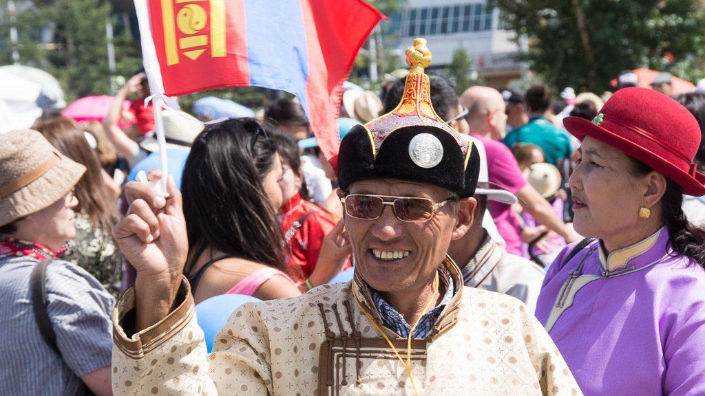 Naadam Fest Parade in Ulan Bator