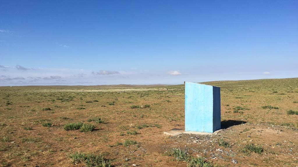 Toilette/Plumpsklo in der Wüste Gobi