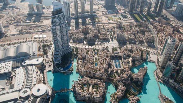 Blick vom Burj Khalifa auf Dubai