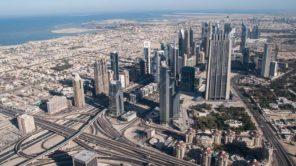 Blick vom höchsten Gebäude der Welt, dem Burj Khalifa