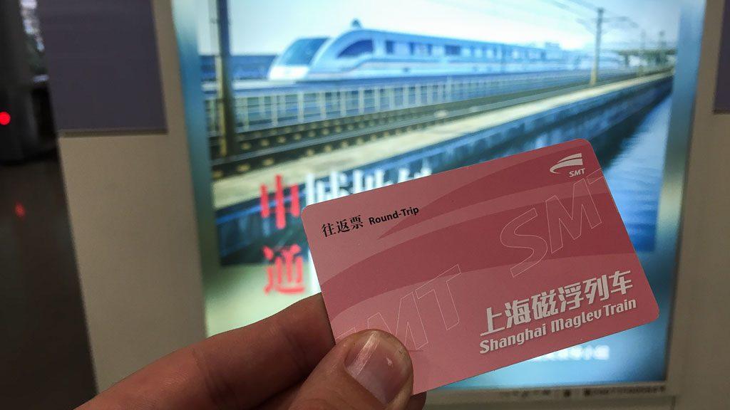 Maglev Shanghai Fahrkarte