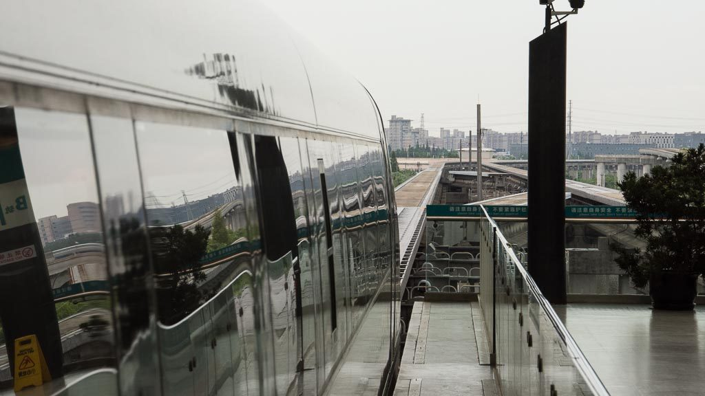 Transrapid Shanghai Station Longyang Road