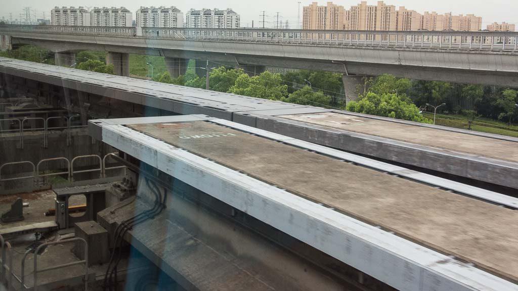 Weiche des Transrapid Shanghai