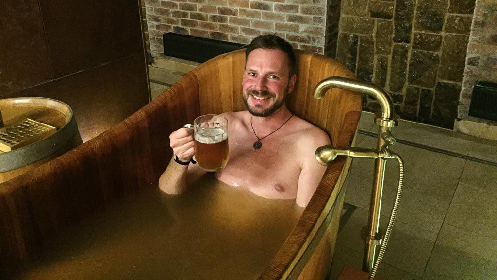 Bierbad in Pilsen bei Purkmistr