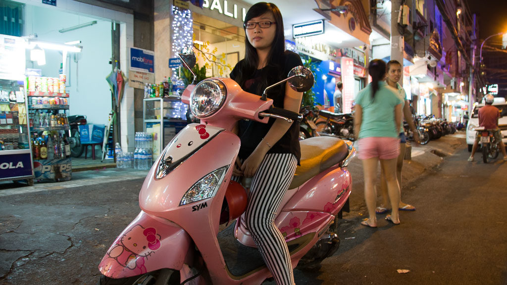 """Hello Kitty"" Moped in Vietnam"