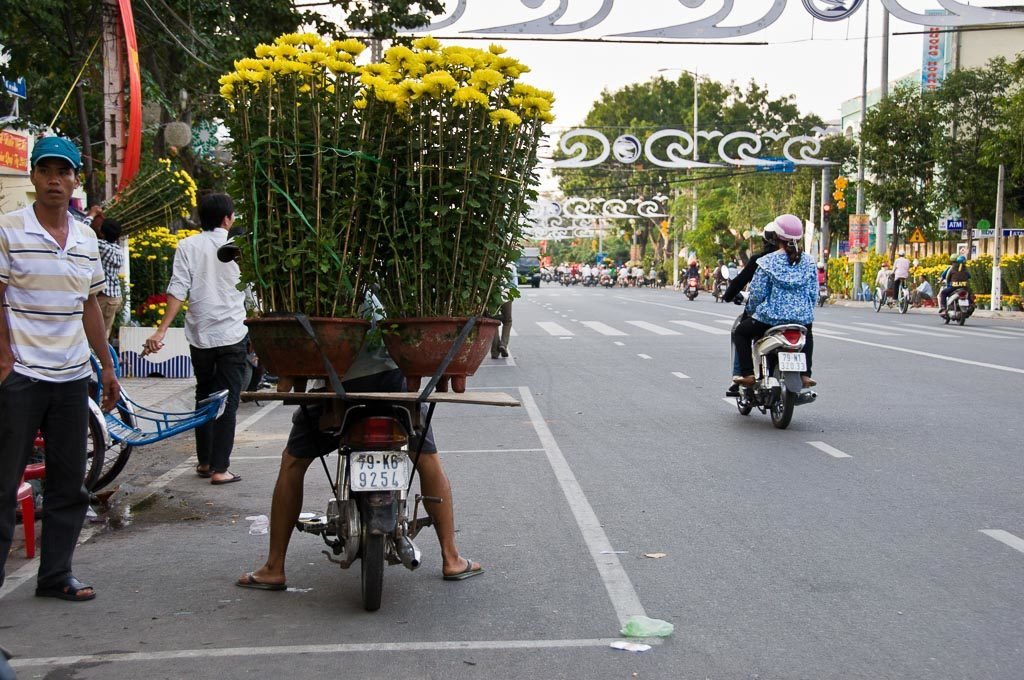 Lustiges Moped in Vietnam