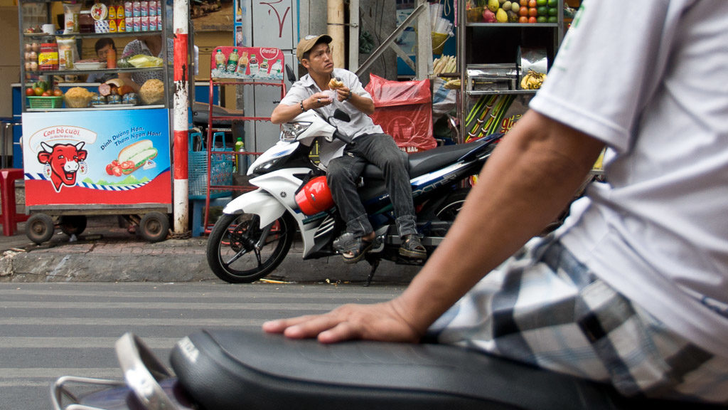 Moped-Taxi in Vietnam