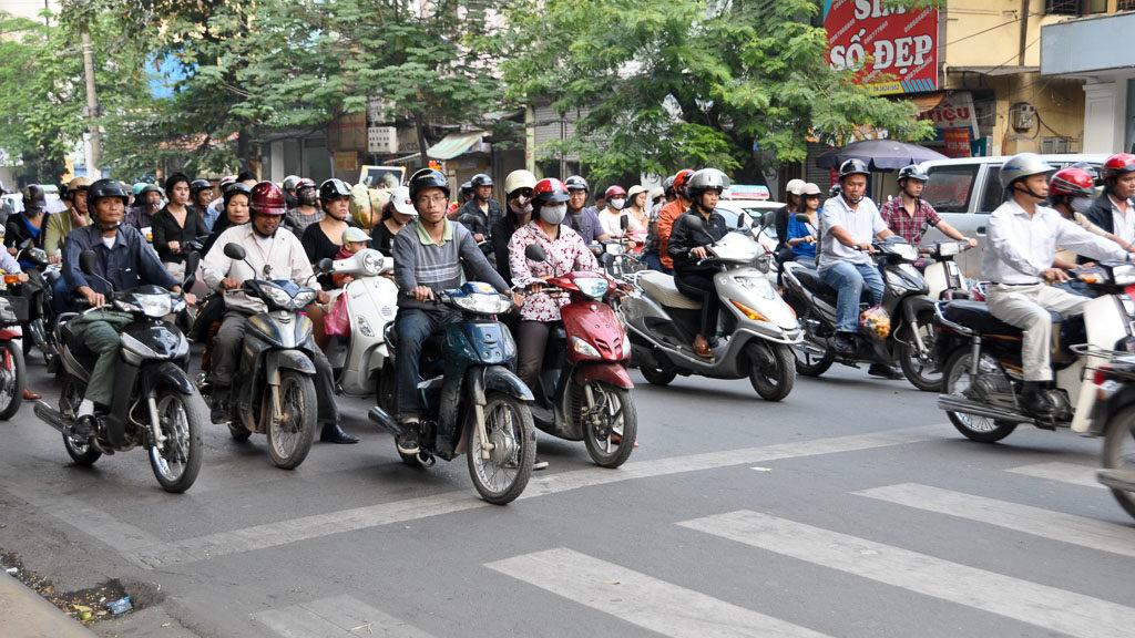 Mopeds in Vietnam (Hanoi)