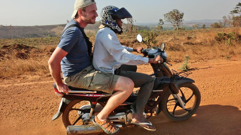 Mopedtaxi in Kambodscha