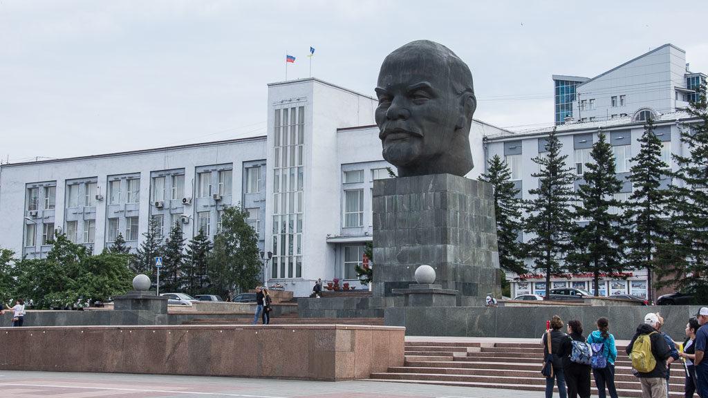 Lenin-Kopf in Ulan Ude