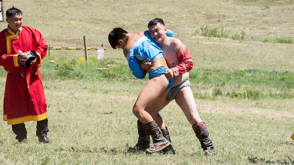 Ringer beim Naadam