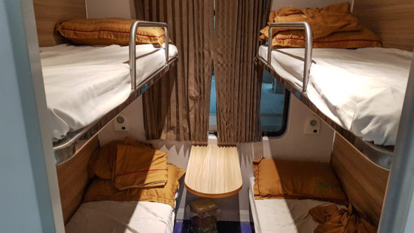 Soft Sleeper Waggon in Vietnam
