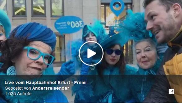 Facebook Live-Video vom Hauptbahnhof Erfurt