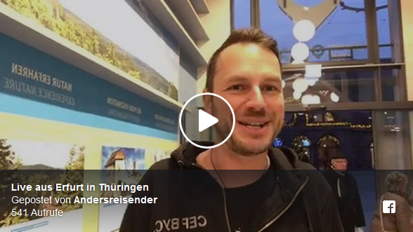 Facebook Live-Video aus Erfurt