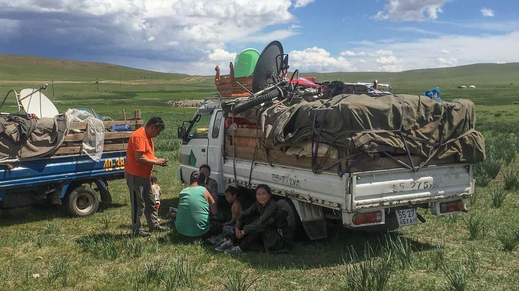 Nomaden in der Mongolei