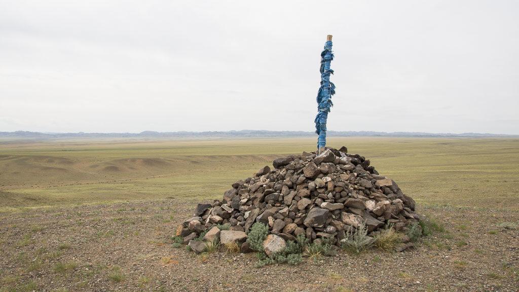 Owoo in der Mongolei