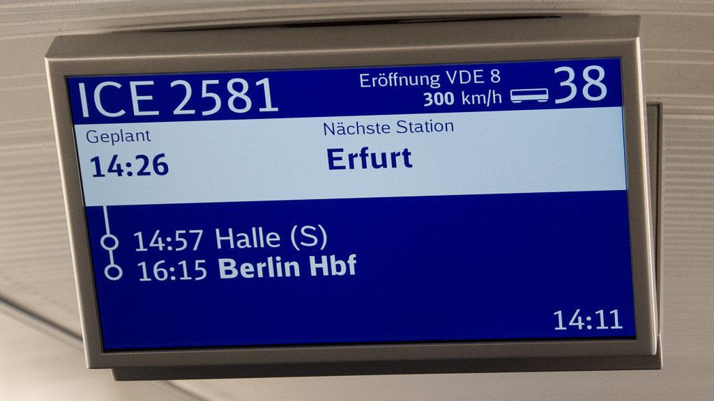 VDE 8 Eröffnung Hochgeschwindigkeitsstrecke Bamberg - Erfurt