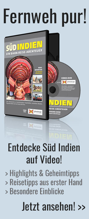 DVD Indien - Reise-Video mit dem Zug durch Südindien