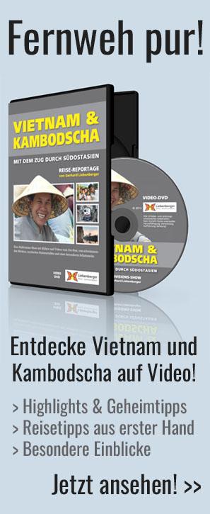 DVD Vietnam & Kambodscha - Reise-Video mit dem Zug durch Südostasien