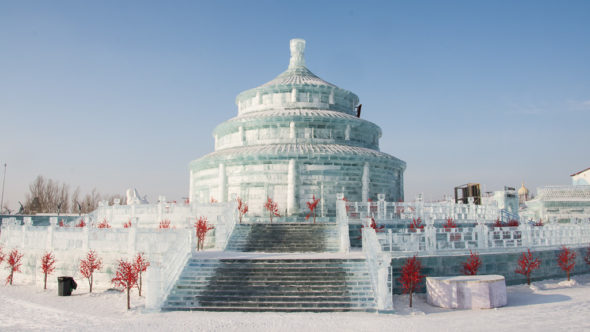 Himmelstempel in der Ice & Snow World in Harbin