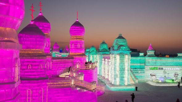 Harbin Ice & Snow World in der Nacht